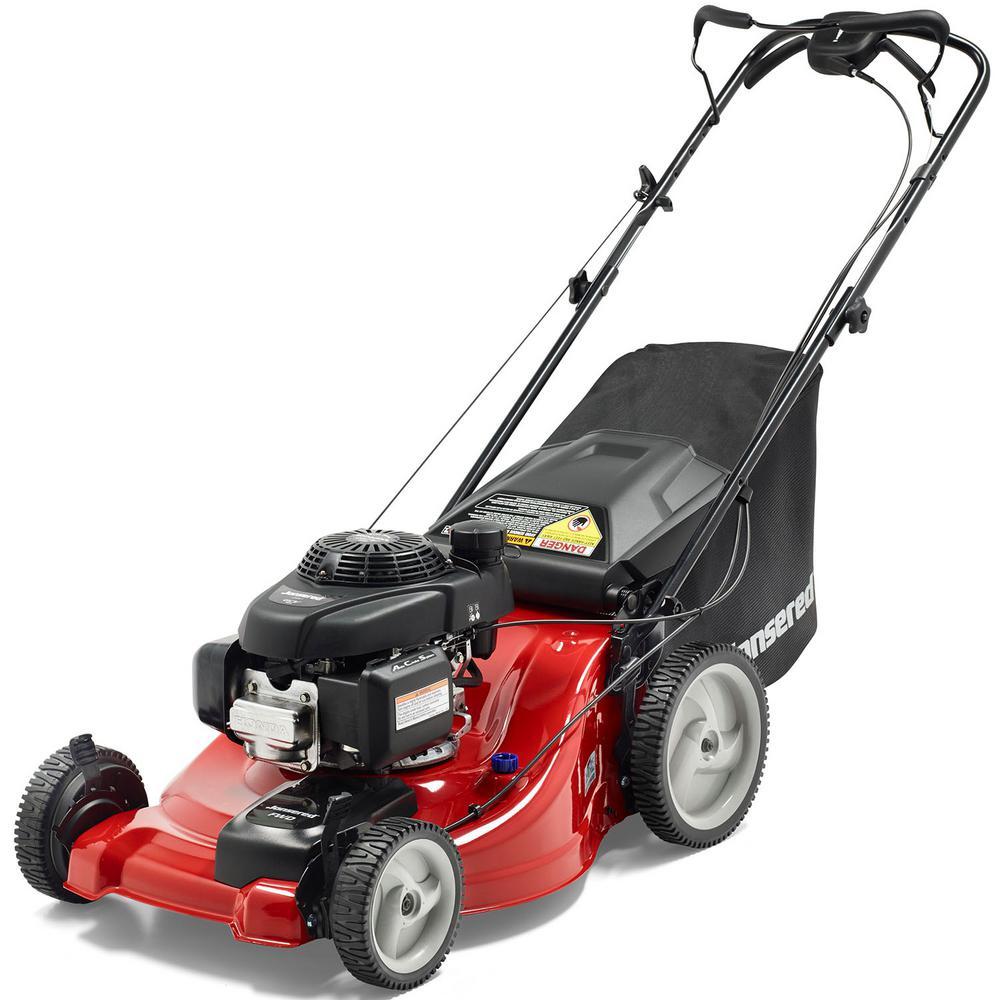21 inch 160cc Honda GCV Gas Walk Behind Push Lawn Mower by