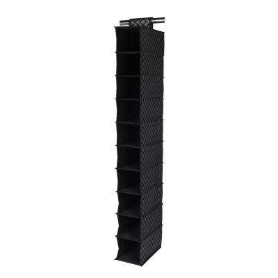 12 in. x 49 in. Silver Shelf 10-Cube Closet Organizer