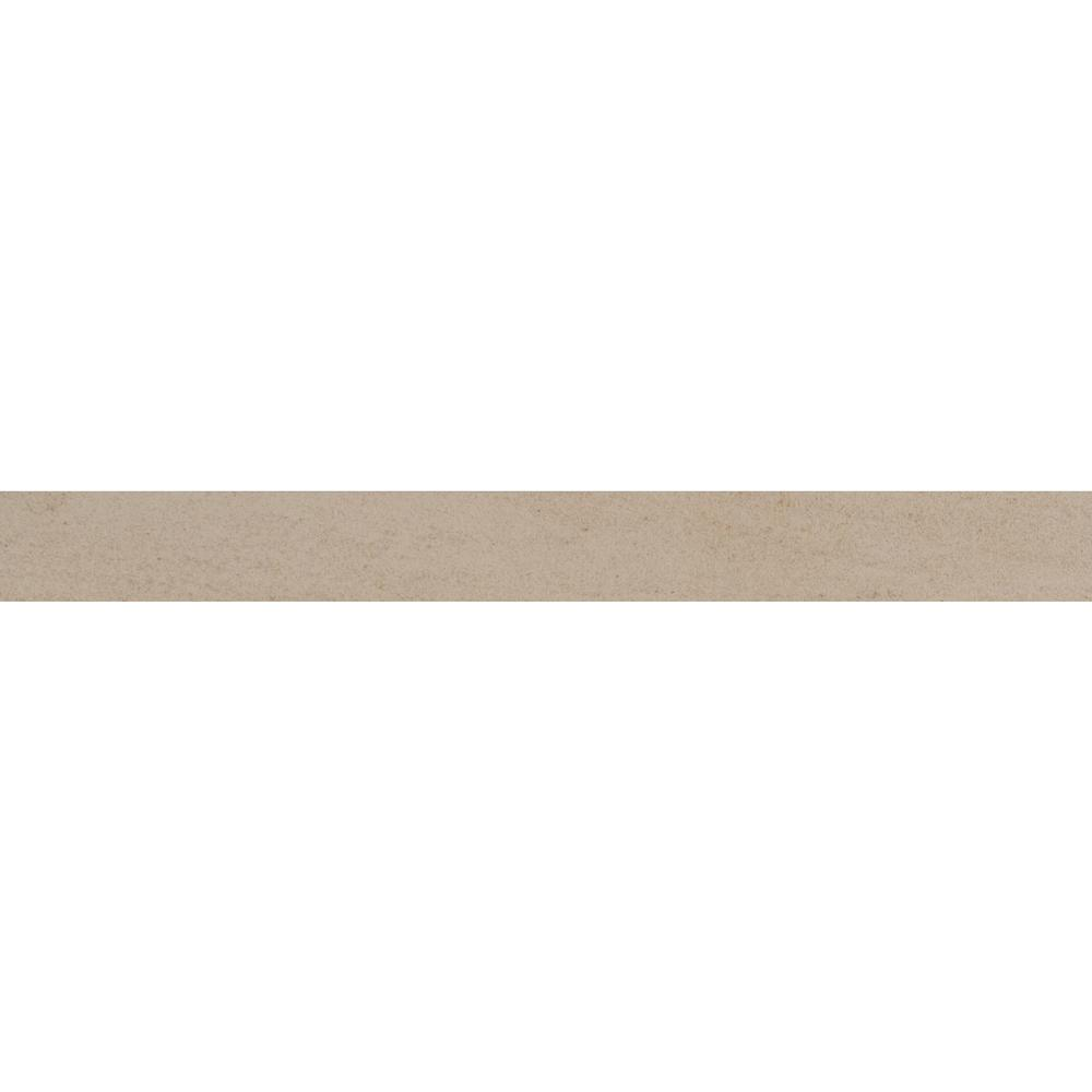 Msi Living Style Beige Bullnose 2 in. x 24 in. Glazed PorcelainWall Tile (12-Pieces / 24 lin. ft. / case)
