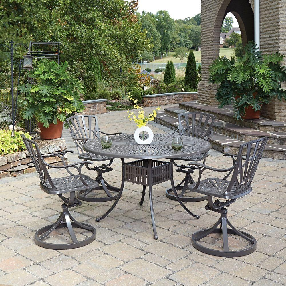 Home Styles Largo Taupe 5-Piece All-Weather Patio Dining Set & Home Styles Largo Taupe 5-Piece All-Weather Patio Dining Set-5561 ...