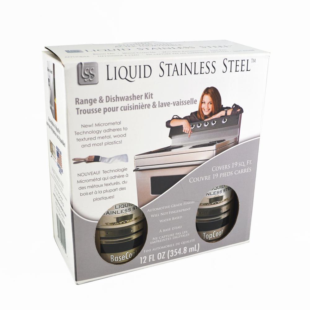 giani liquid stainless steel 12 oz stainless steel appliance paint kit fg rdkit 19 sq ft. Black Bedroom Furniture Sets. Home Design Ideas