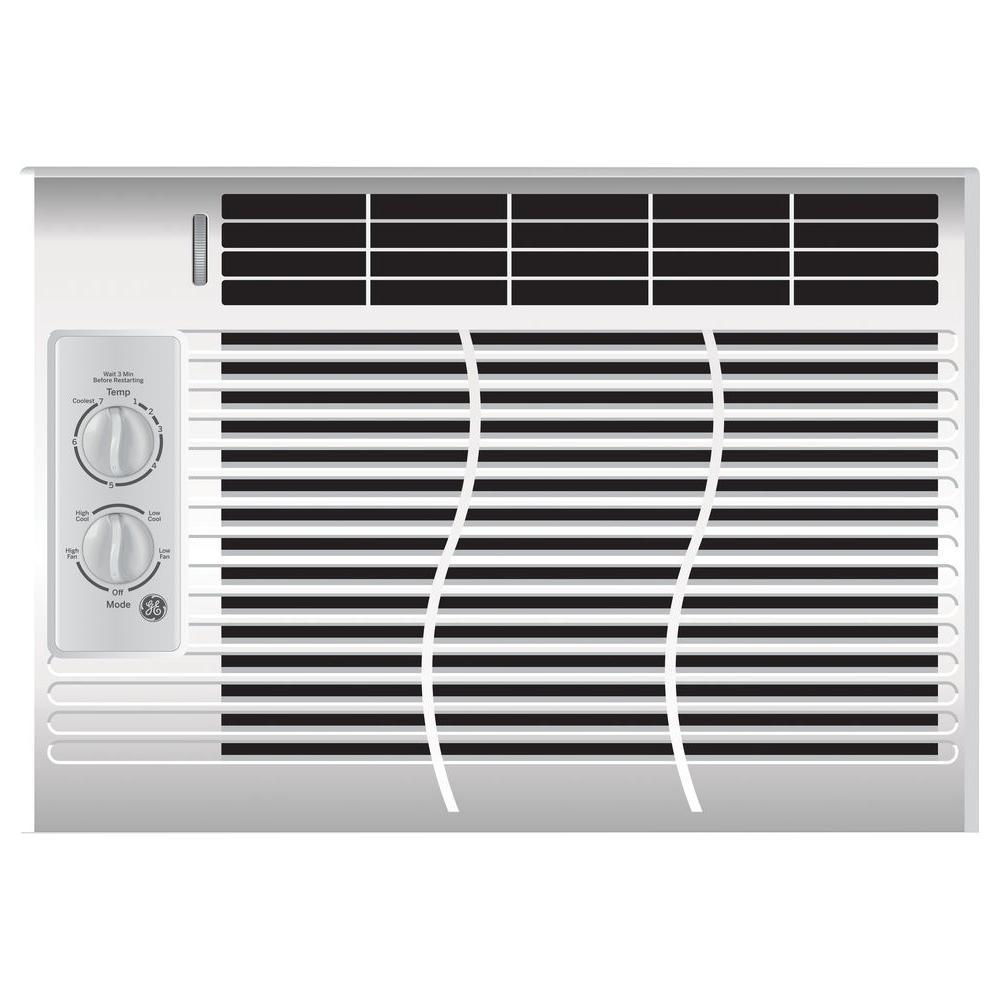 GE 5,000 BTU 115-Volt Room Window Air Conditioner-AEL05LV - The Home Depot