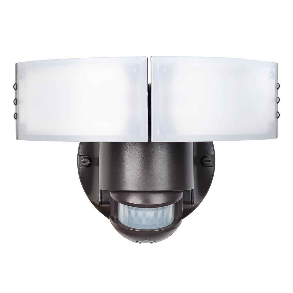 180 Degree Bronze Motion Outdoor Integrated LED Security Light