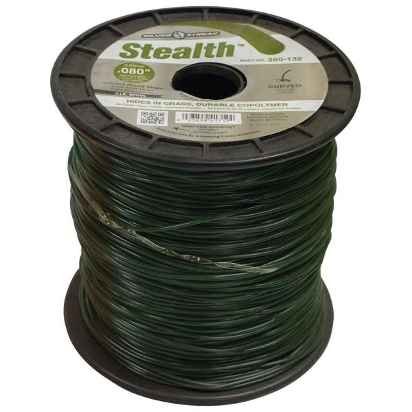 New 380-132 Stealth Trimmer Line for Approximate Length 1215 ft. Color Green Diameter 0.080 in. Size 3 lbs.