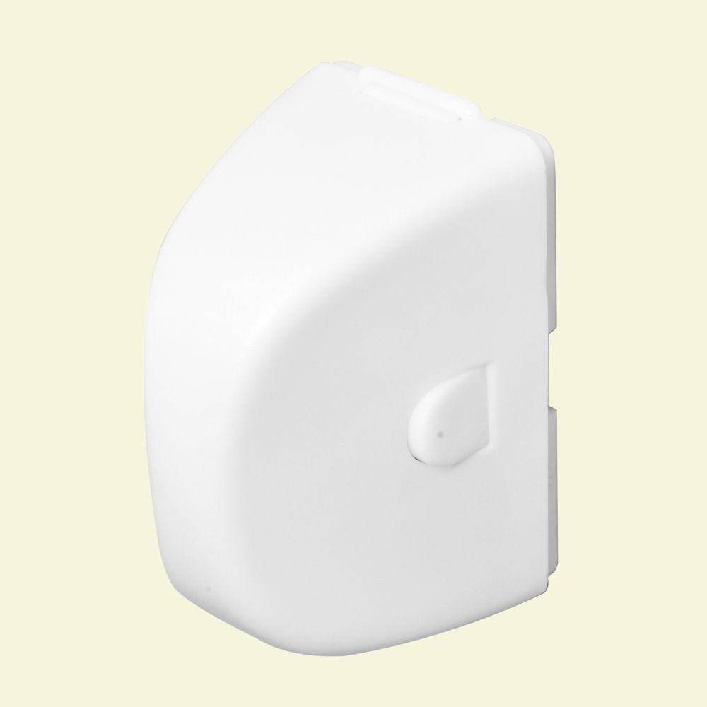 Prime-Line In-Use White Plug Outlet Cover