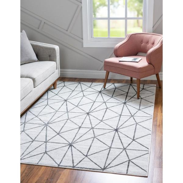 Unique Loom Trellis Collection Geometric Modern Red Area Rug 3 x 5