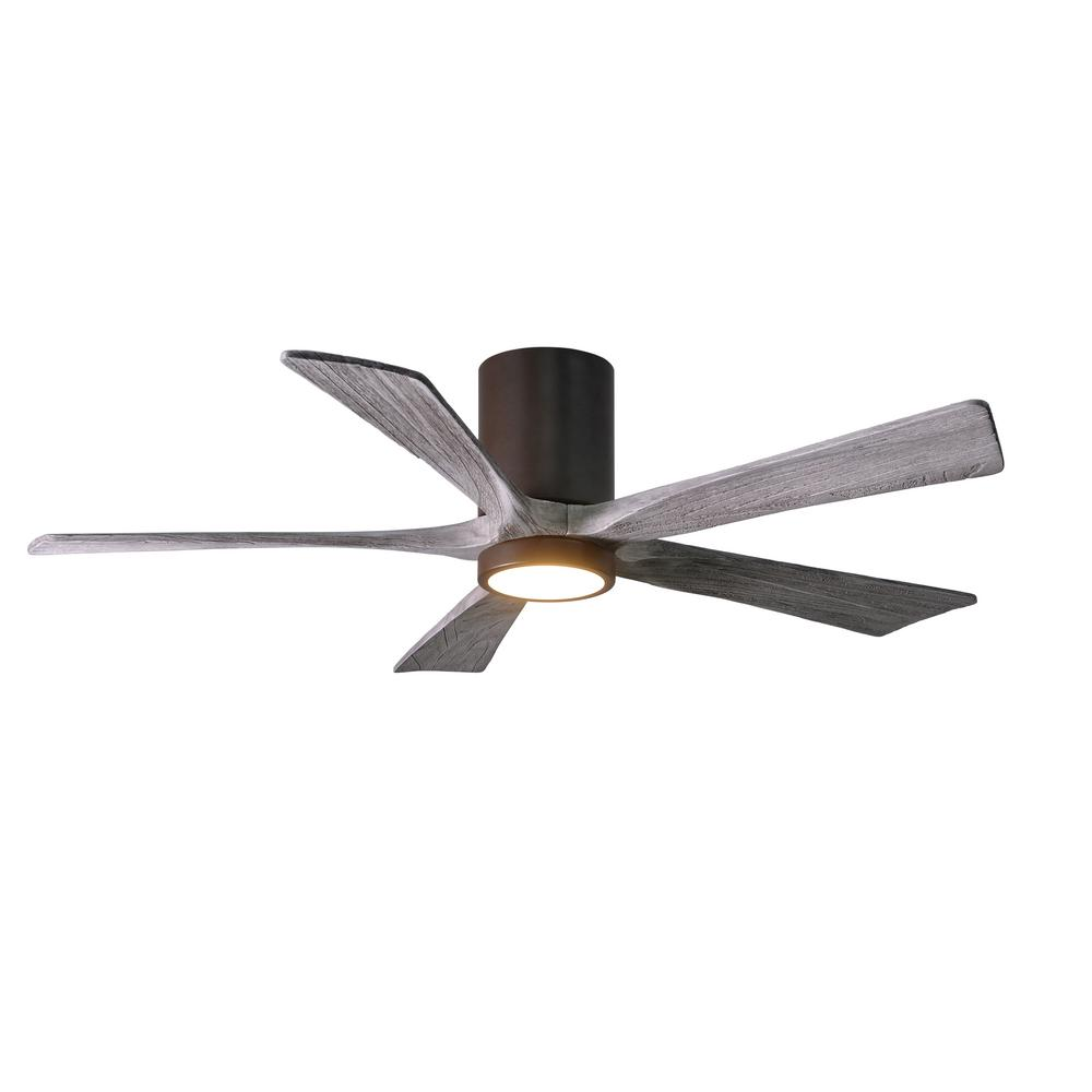 Irene 52 in. LED Indoor/Outdoor Damp Textured Bronze Ceiling Fan with