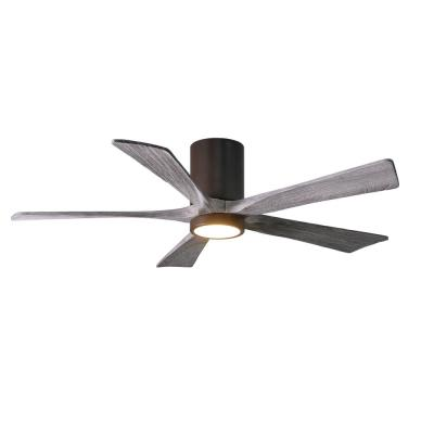 Irene 52 in. LED Indoor/Outdoor Damp Textured Bronze Ceiling Fan with Light with Remote Control, Wall Control