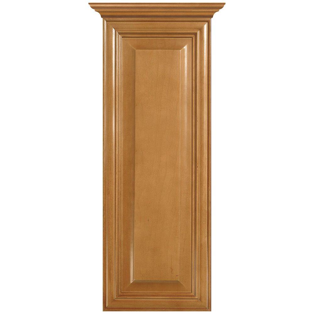 MasterBath Raised Panel 12 in. W Wall Hutch Cabinet in Cinnamon