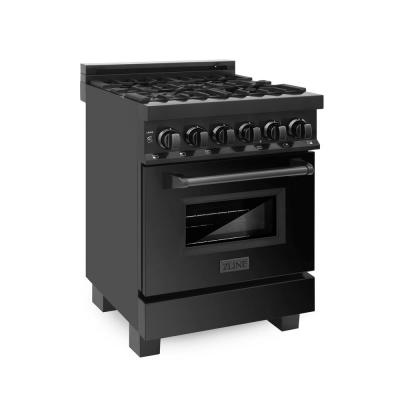 24 in. Dual Fuel Range in Black Stainless Steel