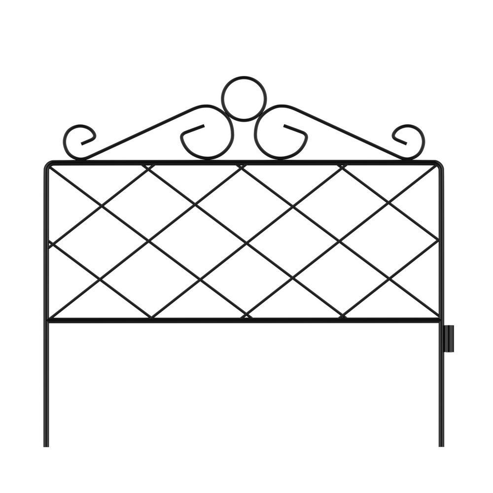 16.5 in. Metal Decorative Azalea Garden Fencing (Set of 5)