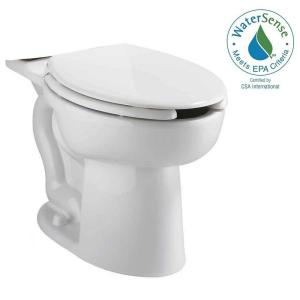 American Standard Cadet Tall Height Pressure-Assisted 1.6 GPF/1.1 GPF Elongated Toilet Bowl Only in White by American Standard
