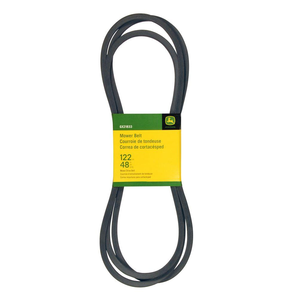John Deere 48 In Deck Drive Belt Gx21833 The Home Depot Dryer Get Free Image About Wiring Diagram Moreover 3 Wire
