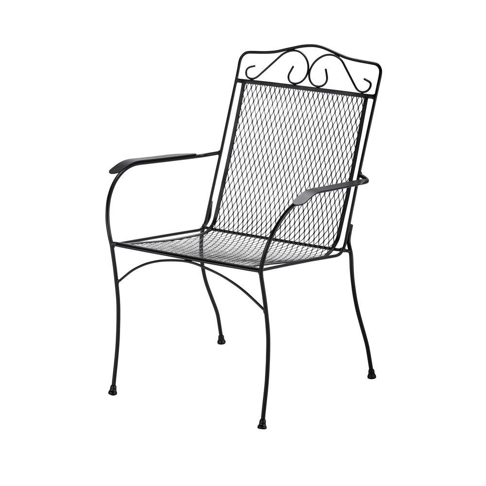 Hampton Bay Nantucket Metal Outdoor Dining Chair-6990700-2005157 ...