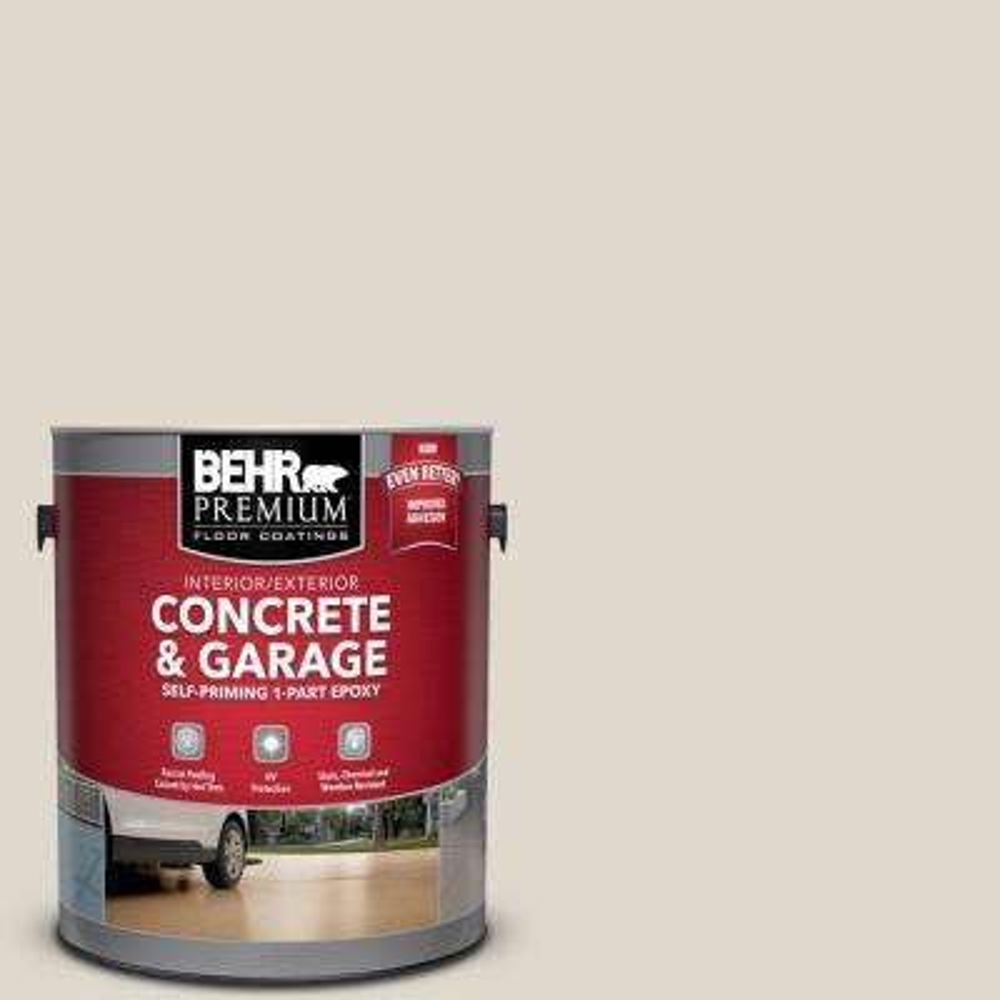 1 gal. #PFC-72 White Cloud Self-Priming 1-Part Epoxy Satin Interior/Exterior Concrete and Garage Floor Paint