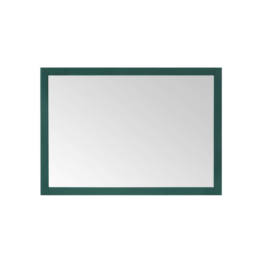 40.00 in. W x 28.00 in. H Framed Rectangular  Bathroom Vanity Mirror in Emerald Green