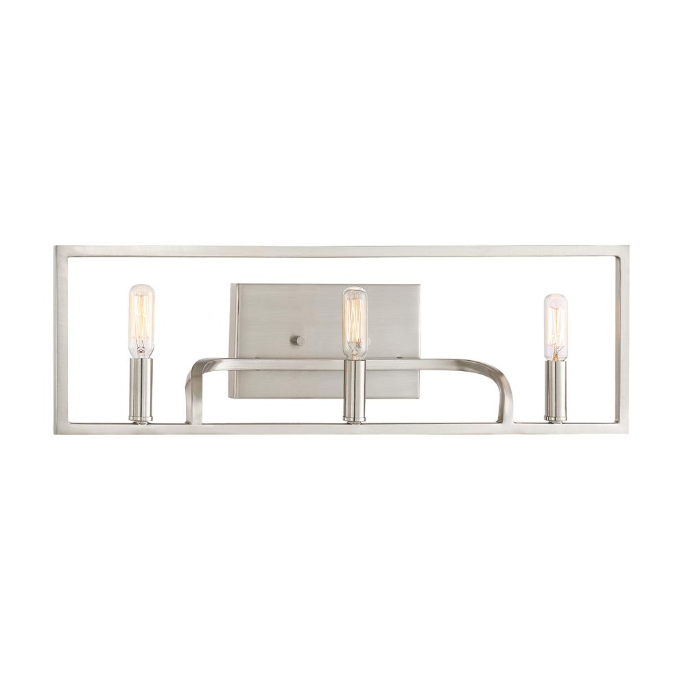 Uptown 3-Light Satin Platinum Bath Light