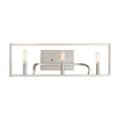 Uptown 3-Light Satin Platinum Bath Light