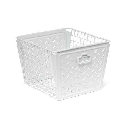 Macklin Large Metal Basket in White