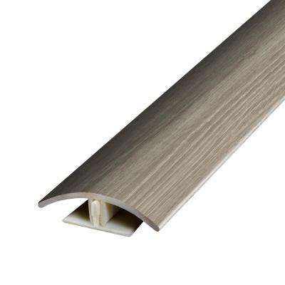 Natural Oak Warm Grey .37 in. Thick x 1.75 in. Wide x 78.7 in. Length Vinyl 2-in-1 Molding