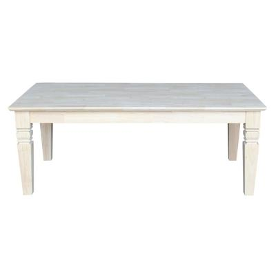 Java 48 in. Unfinished Large Rectangle Wood Coffee Table