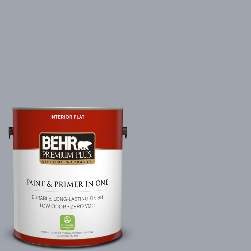 1 gal. #PPU26-19 Chance of Rain Zero VOC Flat Interior Paint