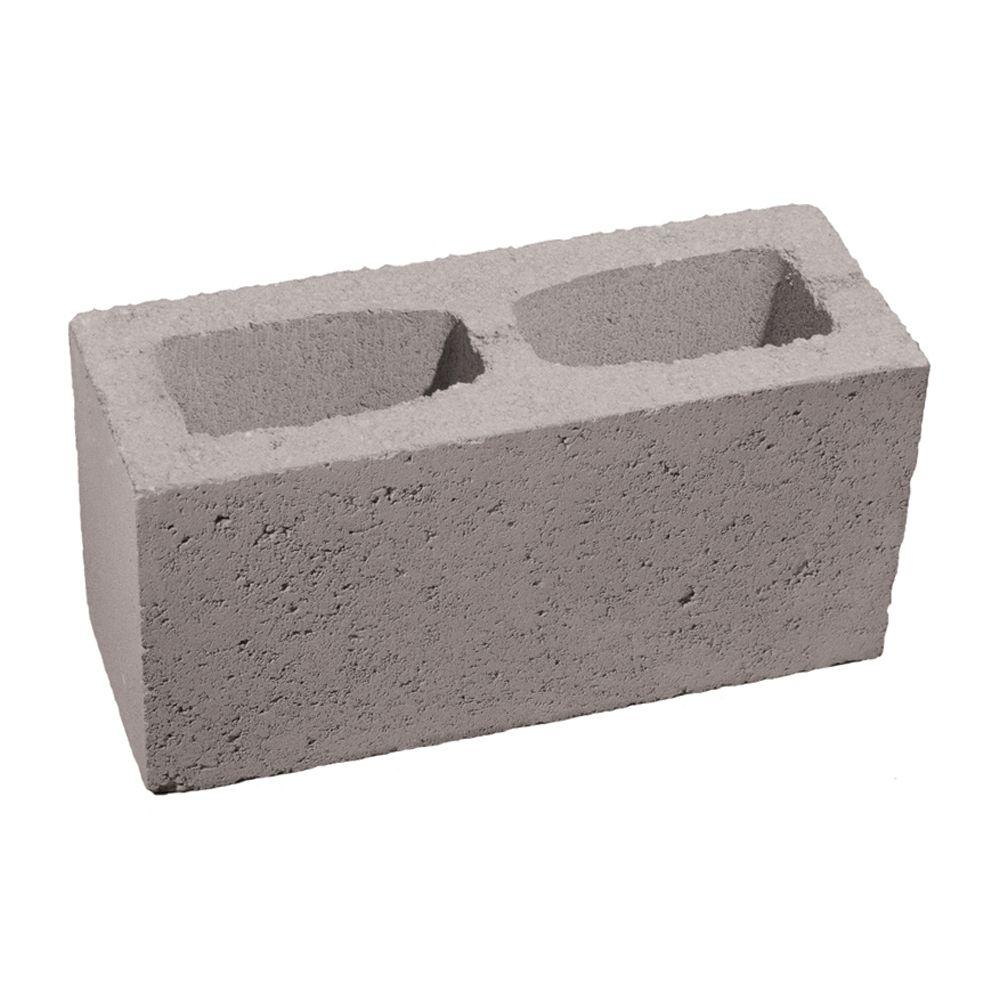 6 In. X 8 In. X 16 In. Gray Concrete Block-100002879