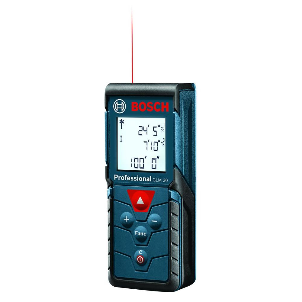 bosch 100 ft laser measure glm 30 the home depot. Black Bedroom Furniture Sets. Home Design Ideas