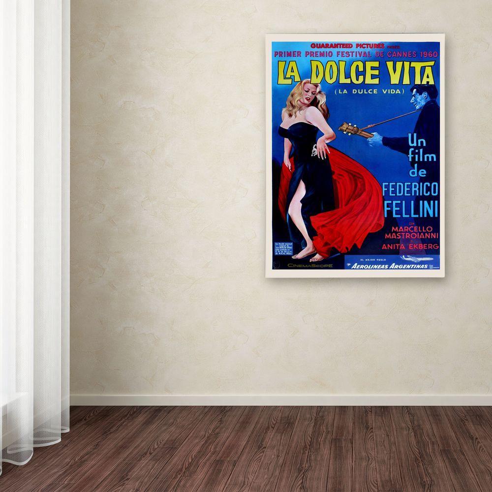 Trademark Fine Art 19 in. x 14 in. La Dolce Vita Canvas Art