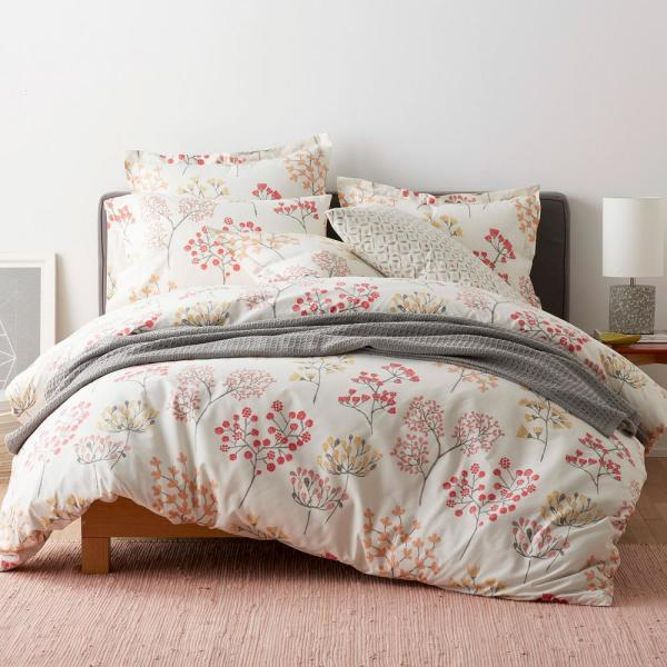 The Company Store Karlie Floral Cotton Percale Twin Duvet Cover 50310D-T-MULTI