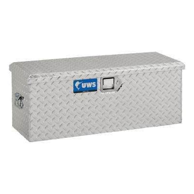 37.00 in Silver Aluminum Full Size Crossbed Truck Tool Box