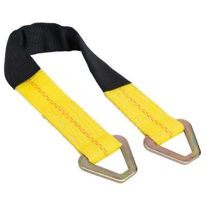 24 in. Axle Strap with D-Ring and Protective Sleeve