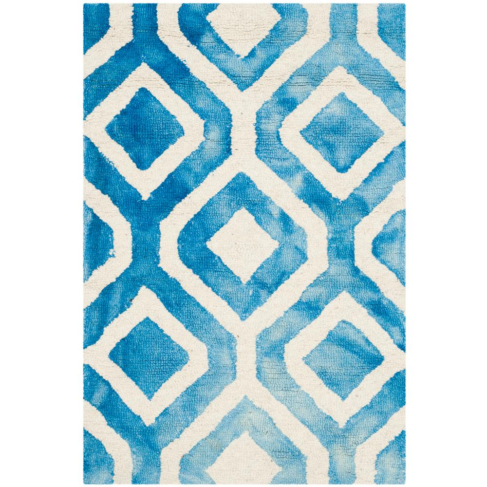 Dip Dye Ivory/Blue 3 ft. x 5 ft. Area Rug
