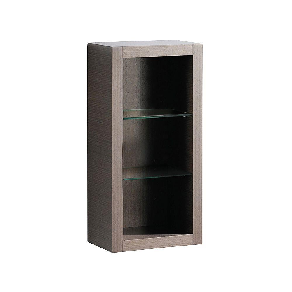 Allier 15-1/4 in. W x 32 in. H x 10 in. D Bathroom Linen Storage Cabinet in Gray Oak
