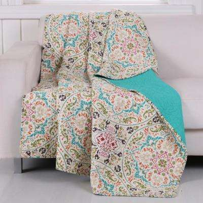Morocco Gem Quilted Cotton Throw
