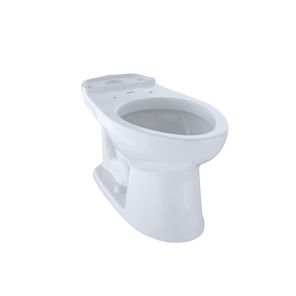 TOTO Eco Drake Elongated Toilet Bowl Only with 10 in. Rough-In in Cotton White