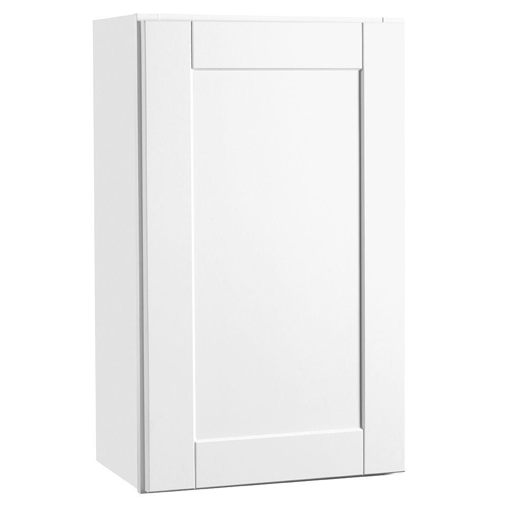 Beau Hampton Bay Shaker Assembled 18x30x12 In. Wall Kitchen Cabinet In Satin  White