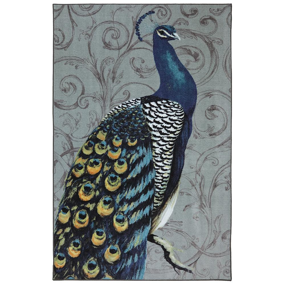 Mohawk Home Peacock Feathers Multi 7 ft. 6 in. x 10 ft. Indoor Area Rug was $195.66 now $156.53 (20.0% off)