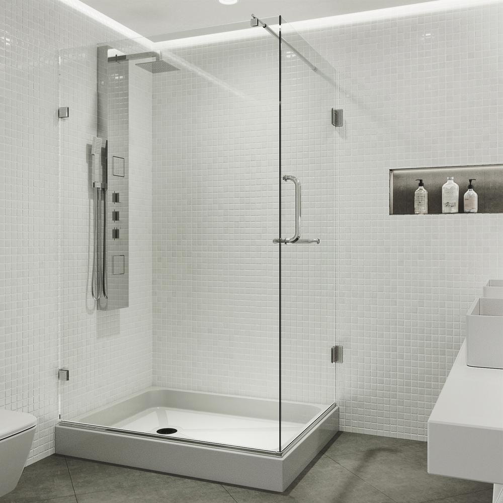 VIGO Pacifica 48.125 in. x 79.25 in. Frameless Pivot Shower ...