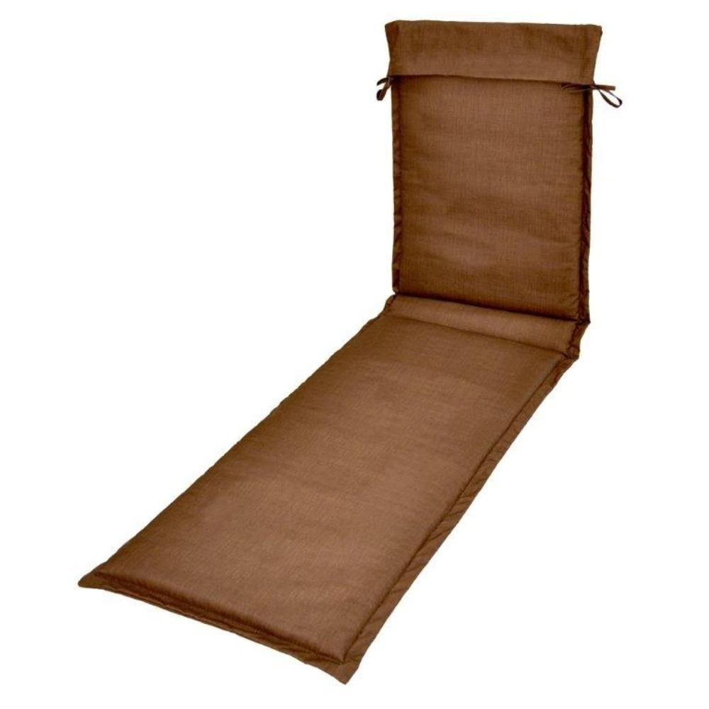 Plantation Patterns Solid Brown Outdoor Sling Chaise Lounge Cushion-DISCONTINUED