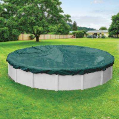 Supreme Plus 28 ft. Pool Size Round Teal Solid Above Ground Winter Pool Cover