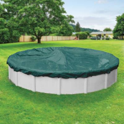 Supreme Plus 30 ft. Round Teal Solid Above Ground Winter Pool Cover