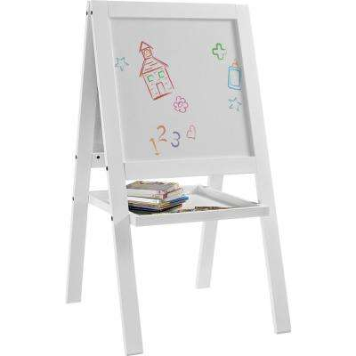 Shelby White Kid's Floor Easel