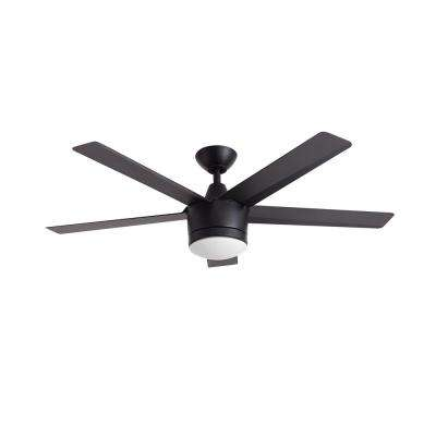 Merwry 52 in. LED Matte Black Ceiling Fan