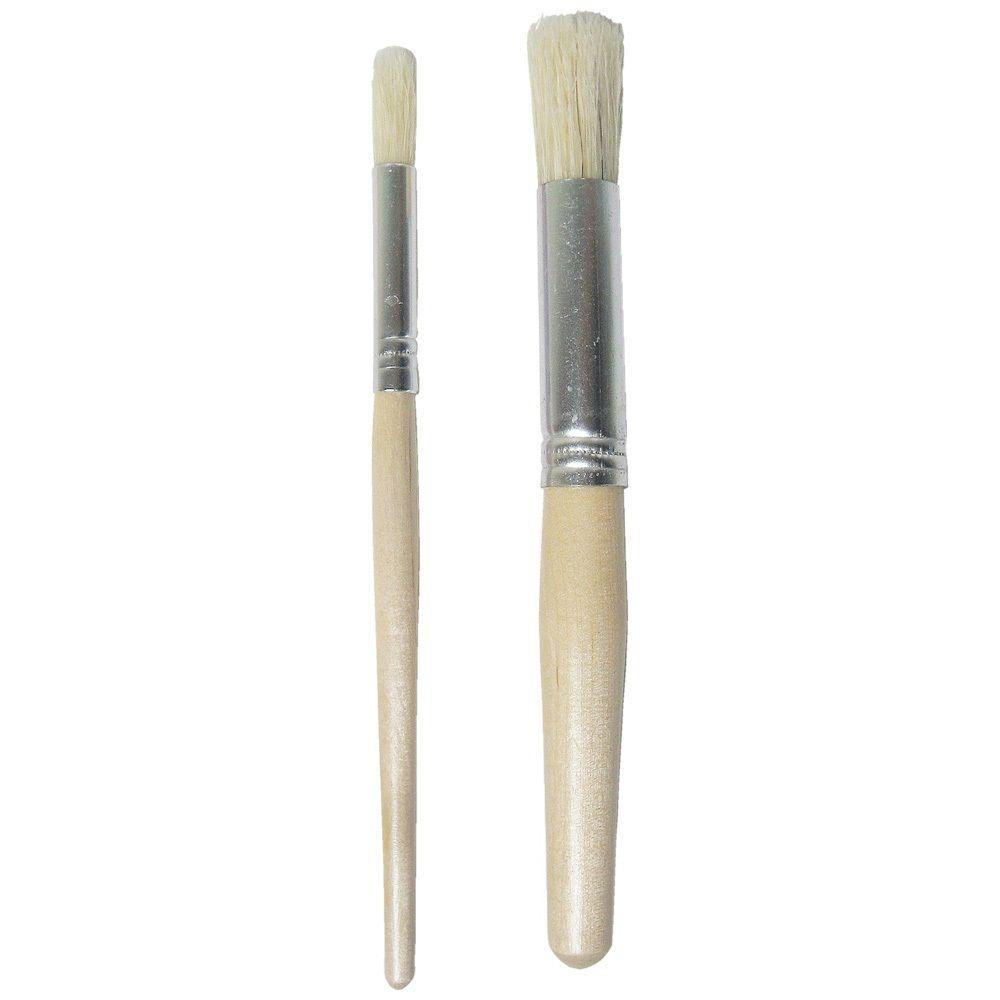 Martha Stewart Living 3/8 in. and 3/4 in. Stencil Brush Set