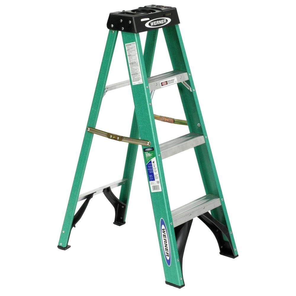 4 ft. Fiberglass Step Ladder with 225 lb. Load Capacity Type