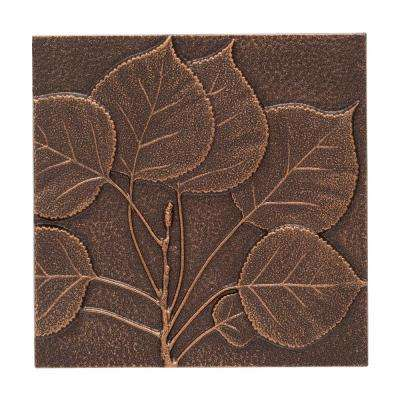8 in. Aspen Leaf Aluminum Wall Decor