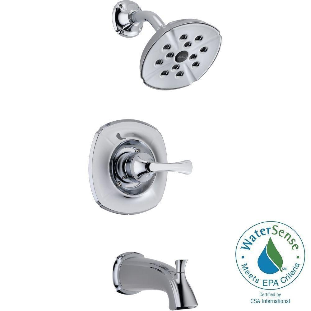 Addison 1-Handle Tub and Shower Faucet Trim Kit in Chrome Featuring