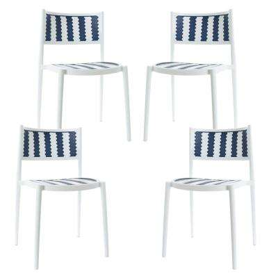 Tuxedo Gray Indoor/Outdoor Dining Chair (Set of 4)