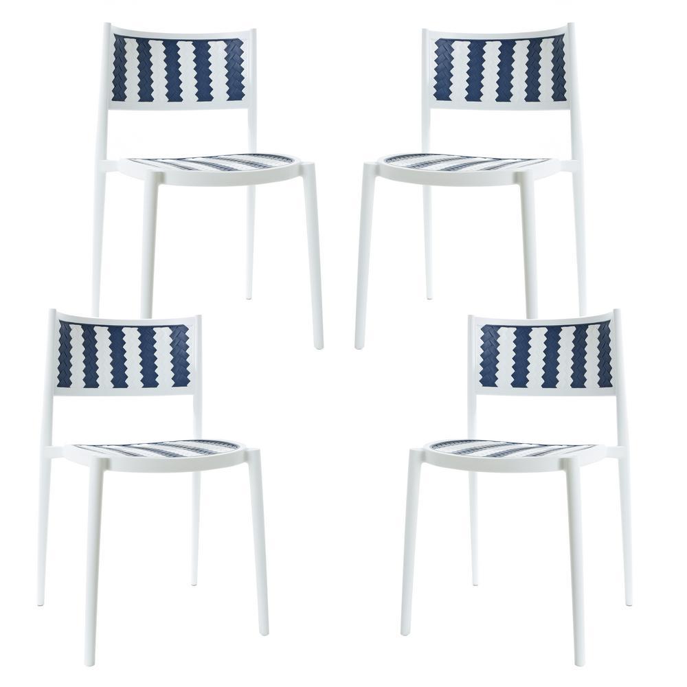 Tuxedo Gray Indoor/Outdoor Dining Chair (Set of 4)
